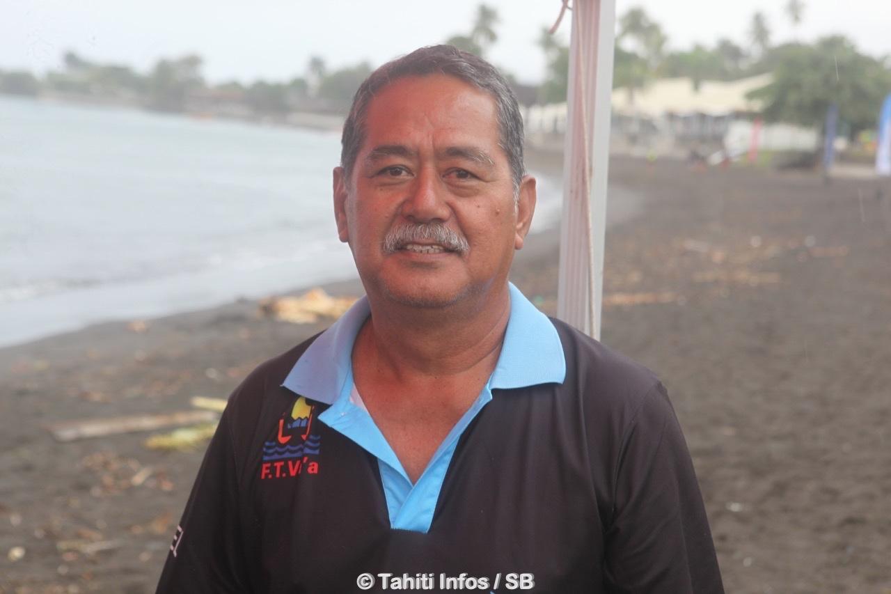"Rodolphe ""Dito"" Apuarii, président de la fédération tahitienne de va'a"