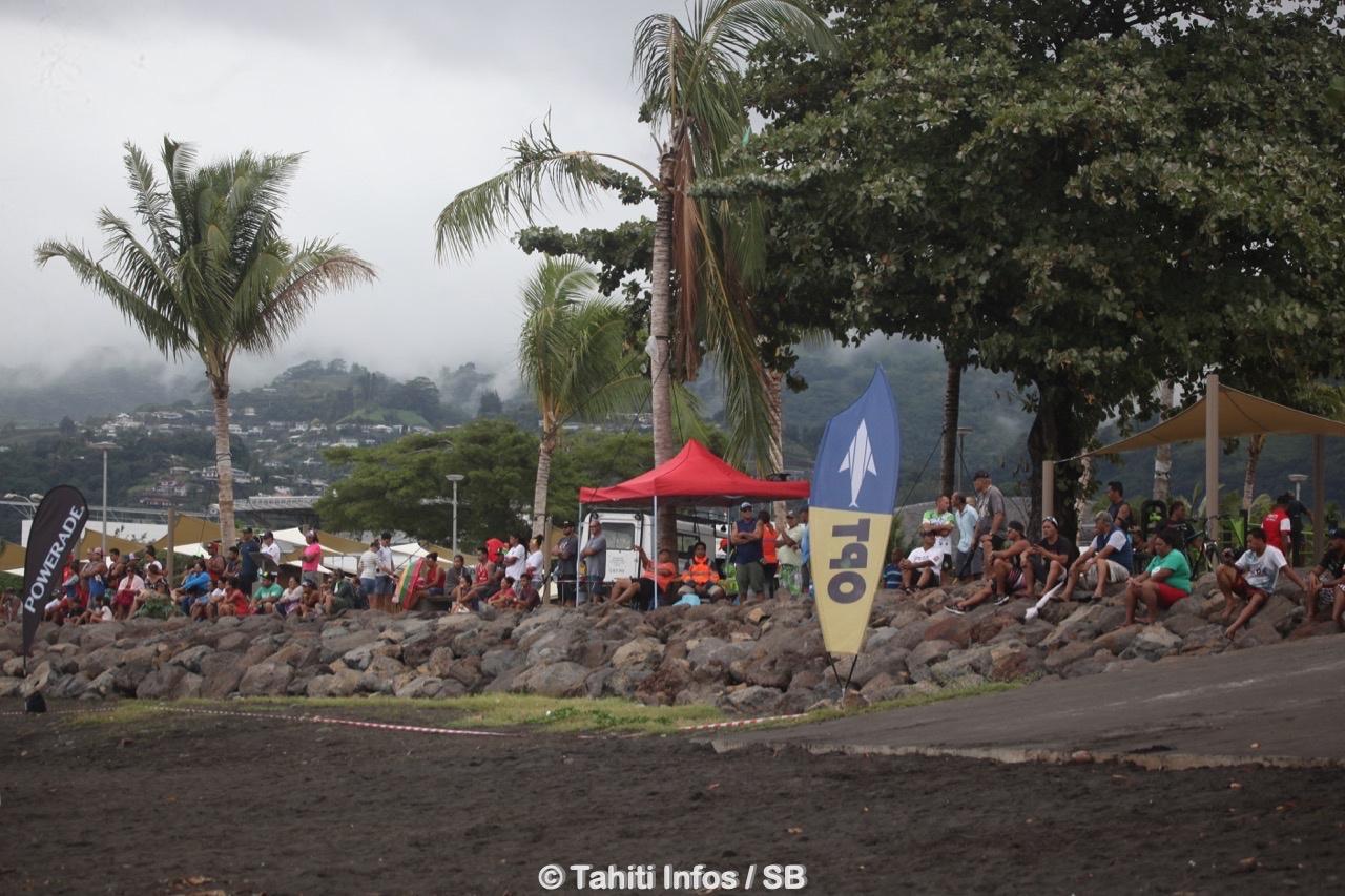 Le Parc Aorai a pu accueillir le public venu assister à l'arrivée