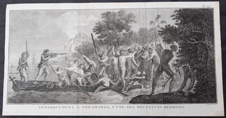 James Cook découvrit Erromango en 1774. Le premier contact fut cordial, mais la visite s'acheva de manière violente (4 morts et 2 blessés côté mélanésiens). Cook appela alors l'île « Tête des Traîtres ».