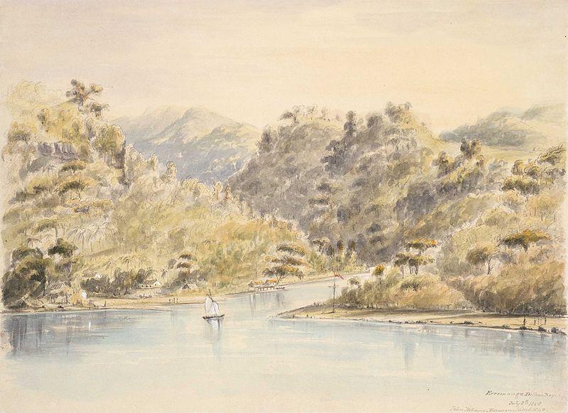 Une vue de Dillons'Bay, à l'époque du drame ayant coûté la vie à deux religieux. Vers 1800, la population d'Erromango était estimée à dix mille personnes. En 1913, on comptait tout juste quatre cents habitants…