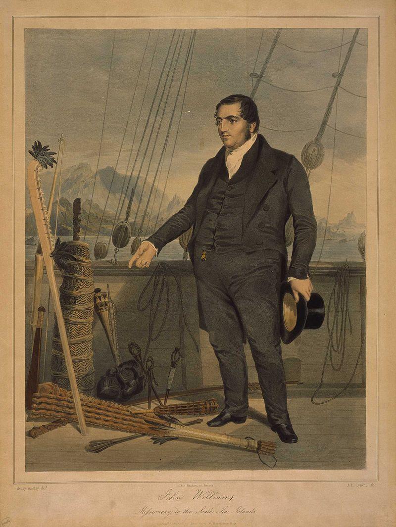 John Williams en route pour les Nouvelles-Hébrides, après avoir quitté les îles Cook. Il ignorait que son voyage serait sans retour et que sa fin serait si brutale.