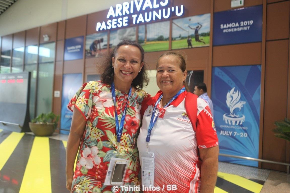 Mme la Minstre Christelle Lehartel avec Titaua Maurin du COPF