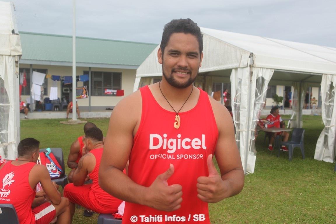 Wilson Bonno est revenu de métropole spécialement pour les Jeux du Pacifique