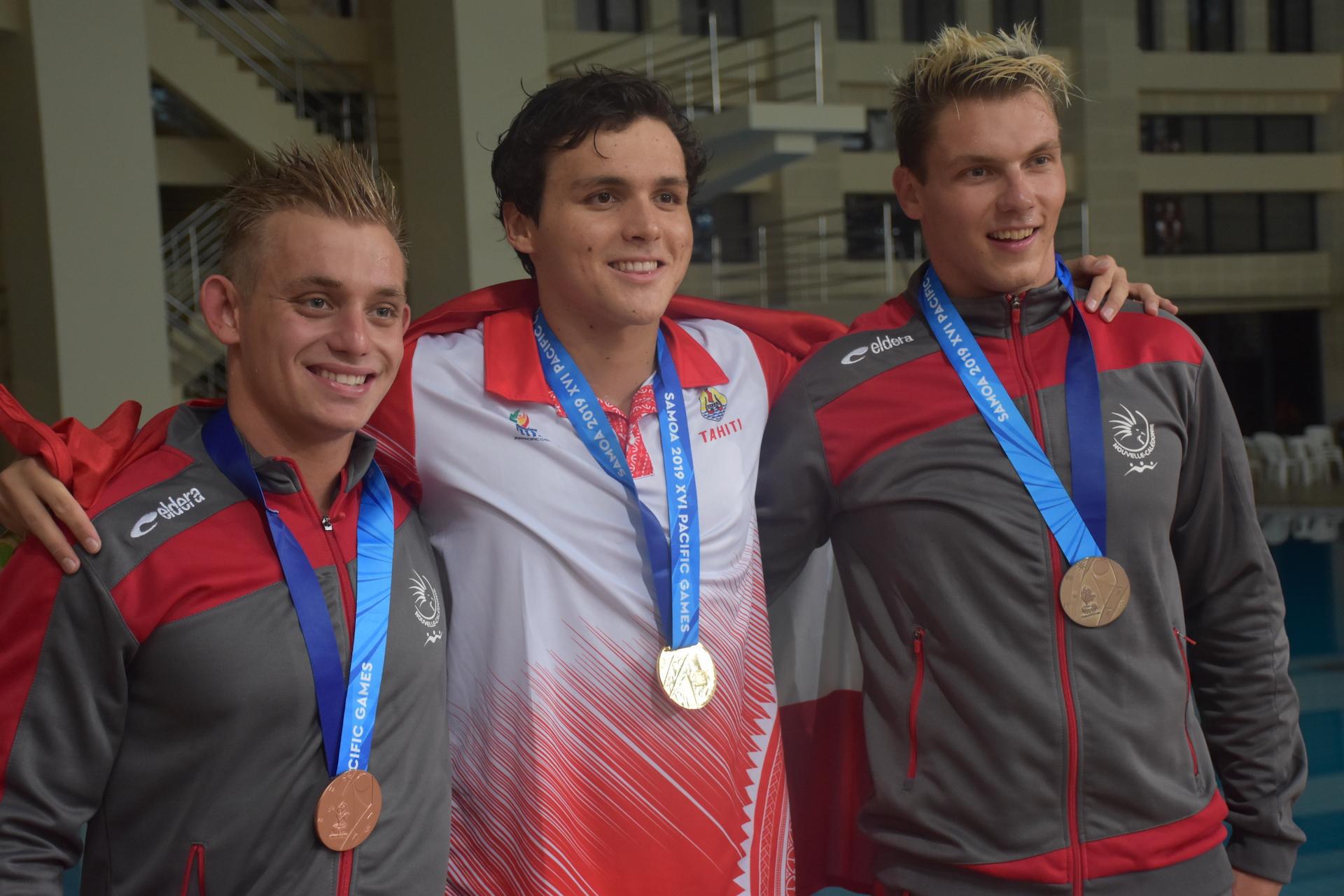 Nicolas Vermorel a devancé deux nageurs calédoniens sur le 50 m papillon.