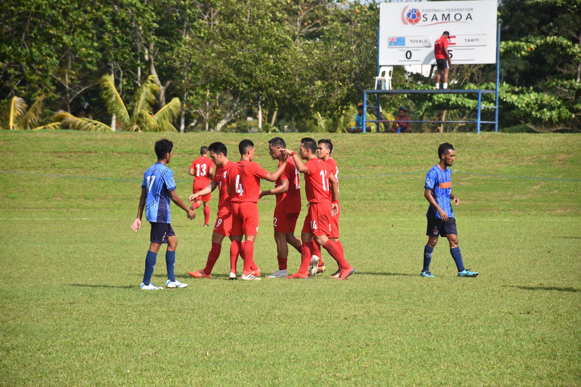 Une victoire facile des Tahitiens après la défaite de lundi face à Fidji.