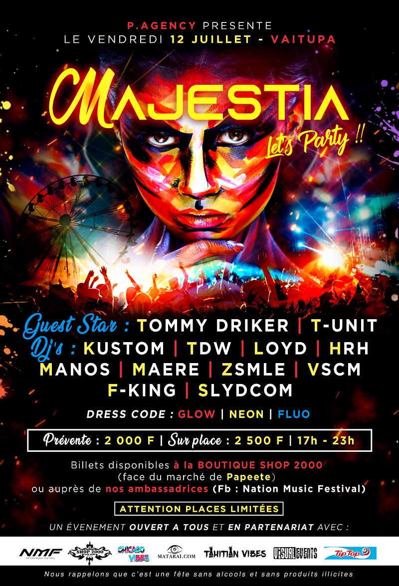 Majestia : une fête électro à côté des pāpio ce vendredi