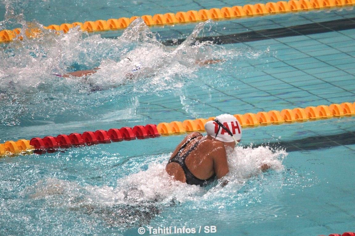 Depuis le début des compétitions de natation, les nageurs tahitiens ont rapporté 14 médailles au fenua, dont 2 en or.
