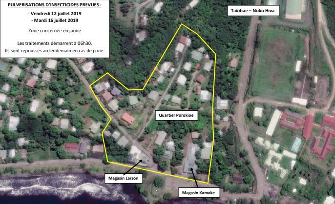 Pulvérisation d'insecticide à Nuku Hiva