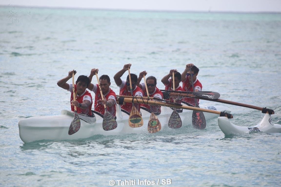 Large victoire pour Tahiti en va'a marathon, en V1 comme en V6