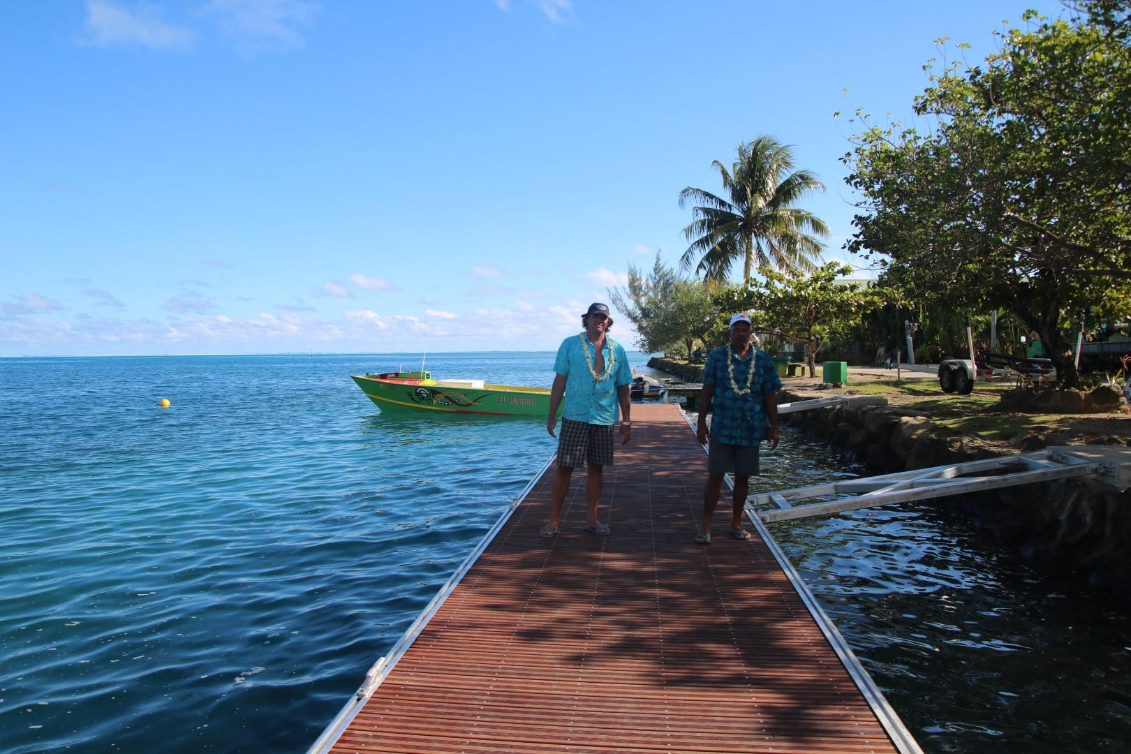 Un nouveau ponton à Haapu