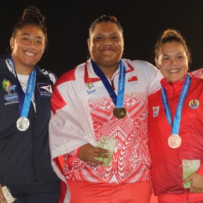 L'or revient à la Tongienne  Ata Maama et la médaille d'argent à Nuuassala Tuilefano, originaire des Samoa américaines. (© Facebook Vaihina Doucet)