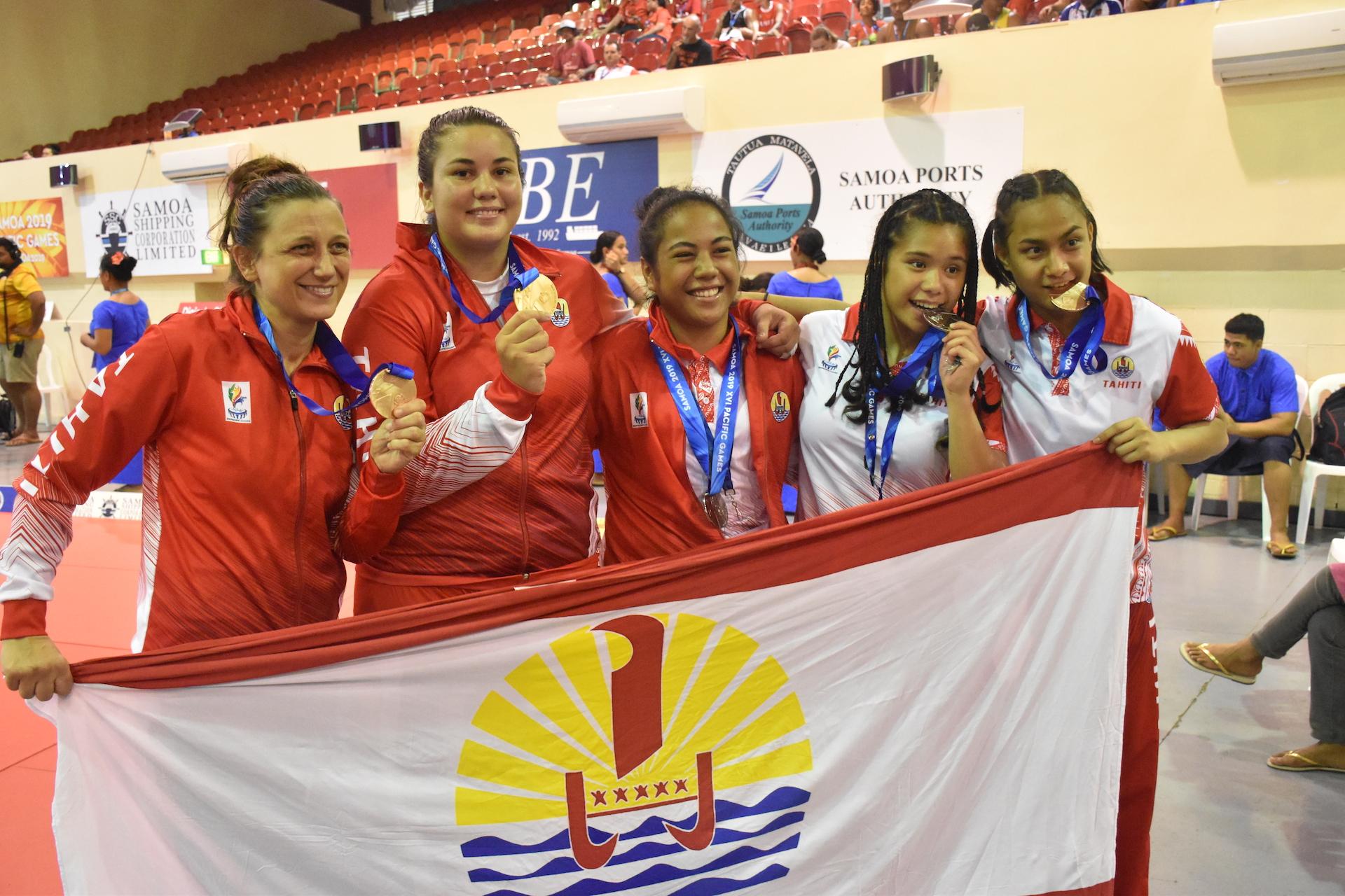 Les judokates tahitiennes ont remporté 5 médailles dont une en or pour Rauhiti Vernaudon.