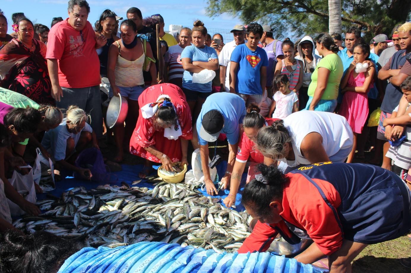 Tradition oblige toujours, ce sont les Matahiapo qui ont eu l'honneur de se servir en premier.