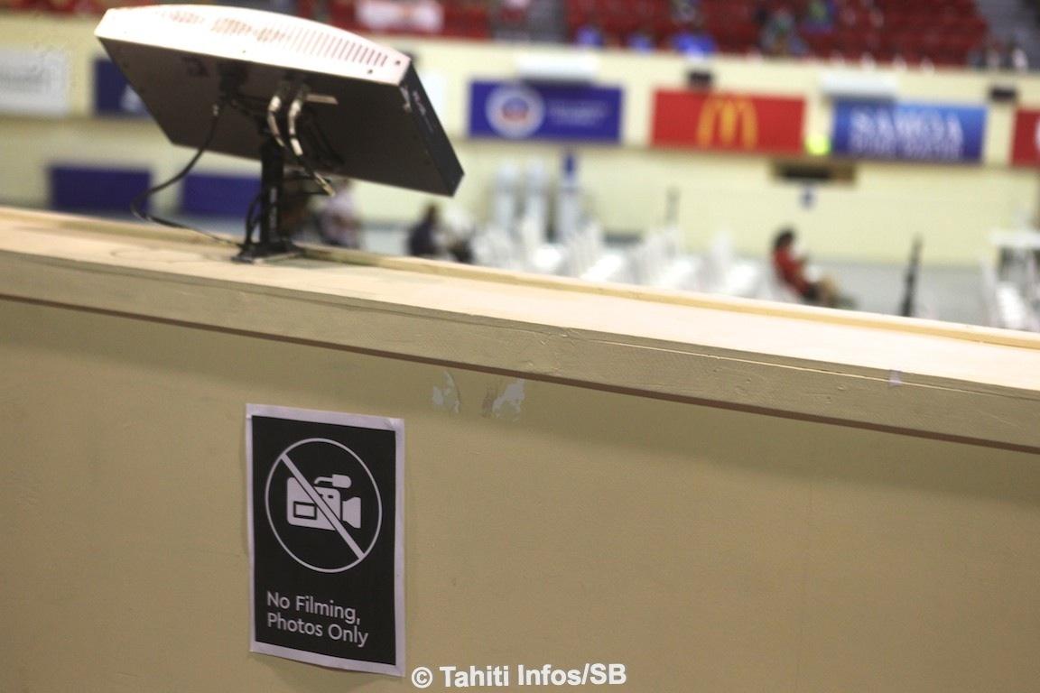 Interdiction de filmer sur les sites de compétition