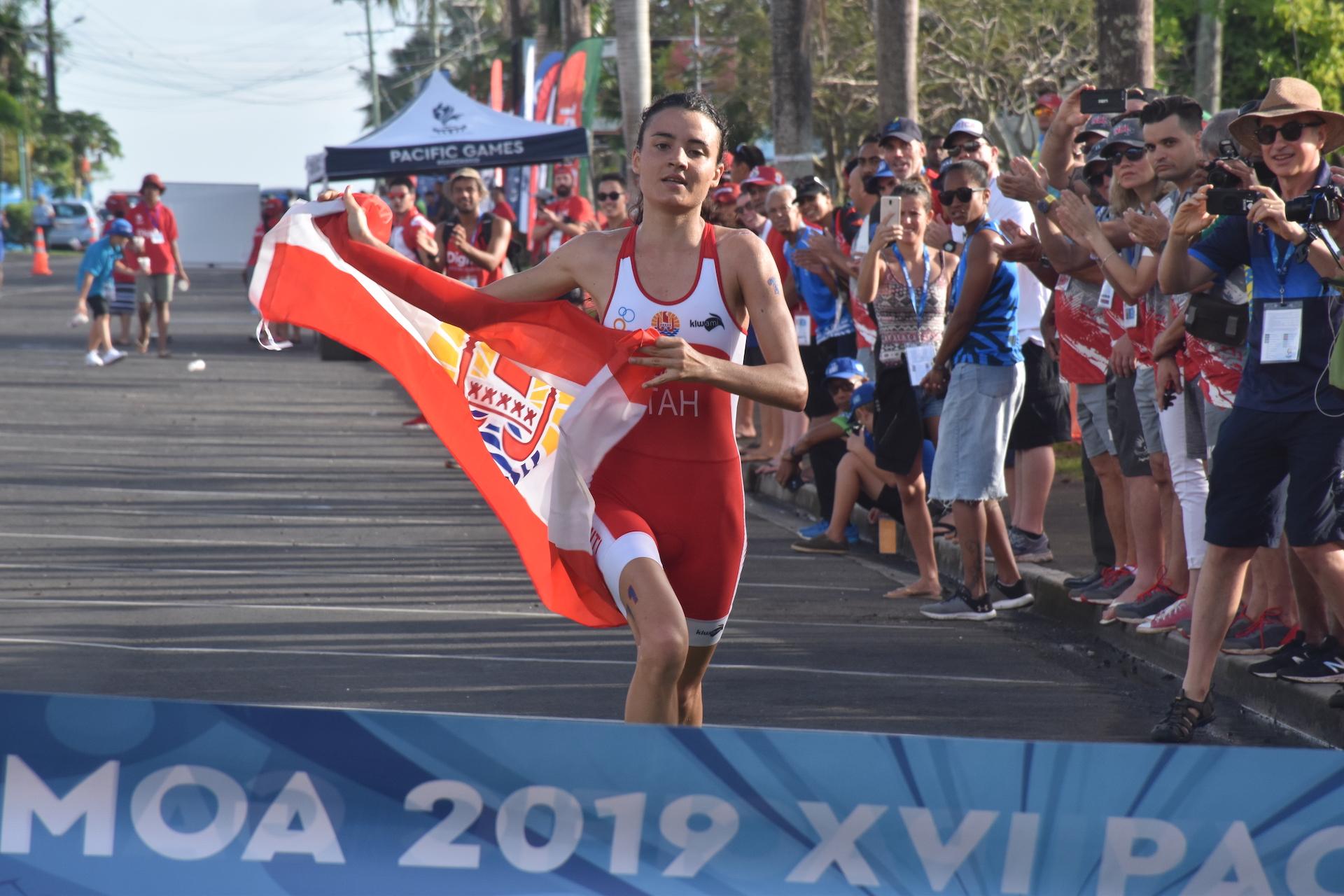 Salomé De Barthez quatrième à l'issue de la natation a refait son retard sur le parcours de course à pied où elle a déposé toutes ses concurrentes.