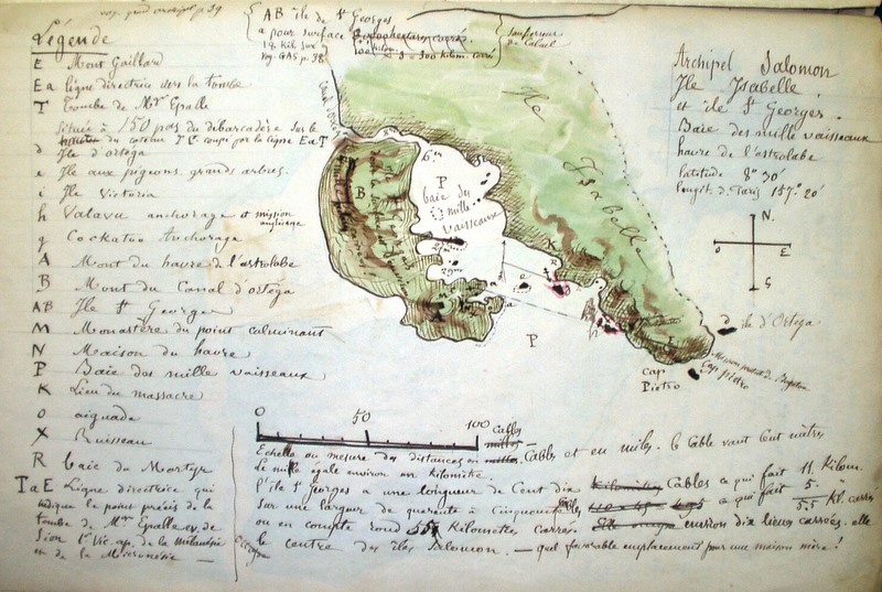 Cette carte dressée par les rescapés de cette désastreuse aventure indique l'emplacement du drame.
