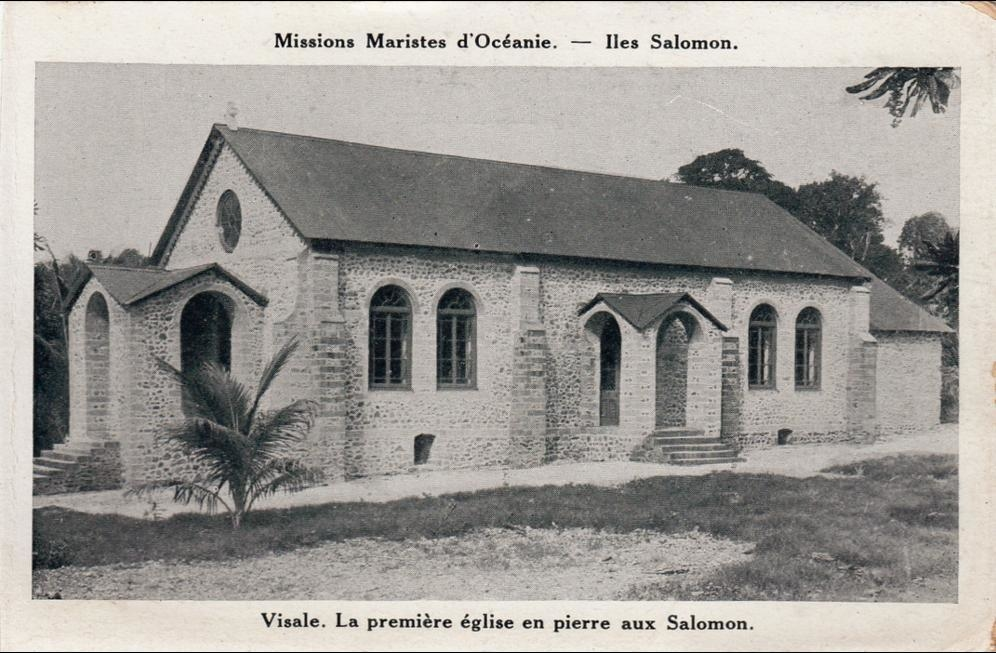 Visale fut la première église en pierre construite aux îles Salomon. Malheureusement, en 1942, un bombardement japonais détruisit la cathédrale bâtie plus tard sur ce site et les restes de Mgr Epalle, qui y avaient été déposés, furent perdus à jamais.