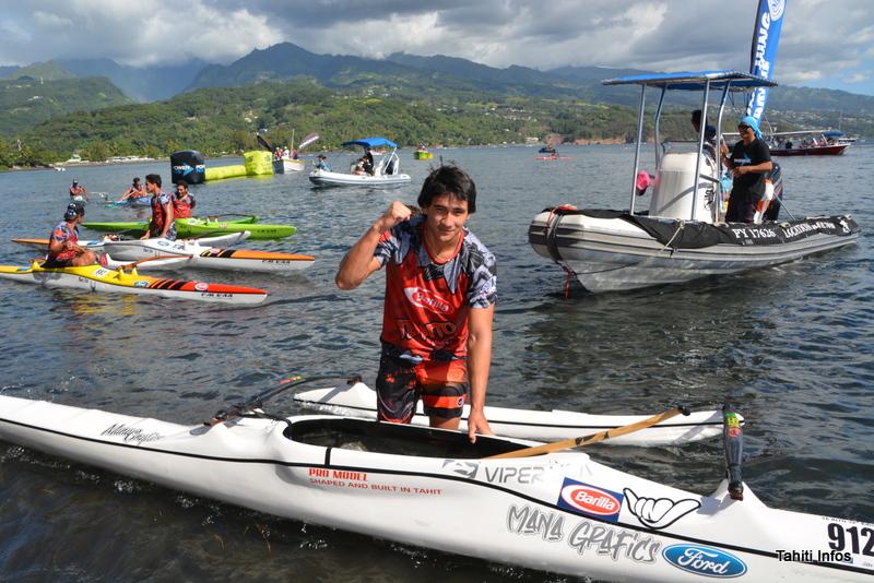 Victoire sur le fil de Brian Ah Min aux juniors du Te Aito Va'a