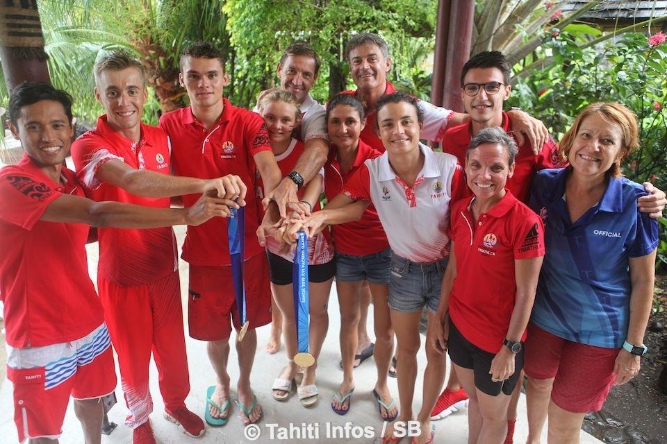 5 or et 2 argent pour le triathlon tahitien
