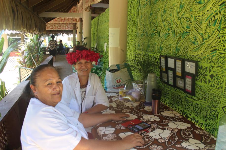 Une dizaine de masseurs et masseuses sont présents jusqu'au 4 août au centre artisanal de la mairie de Faa'a.