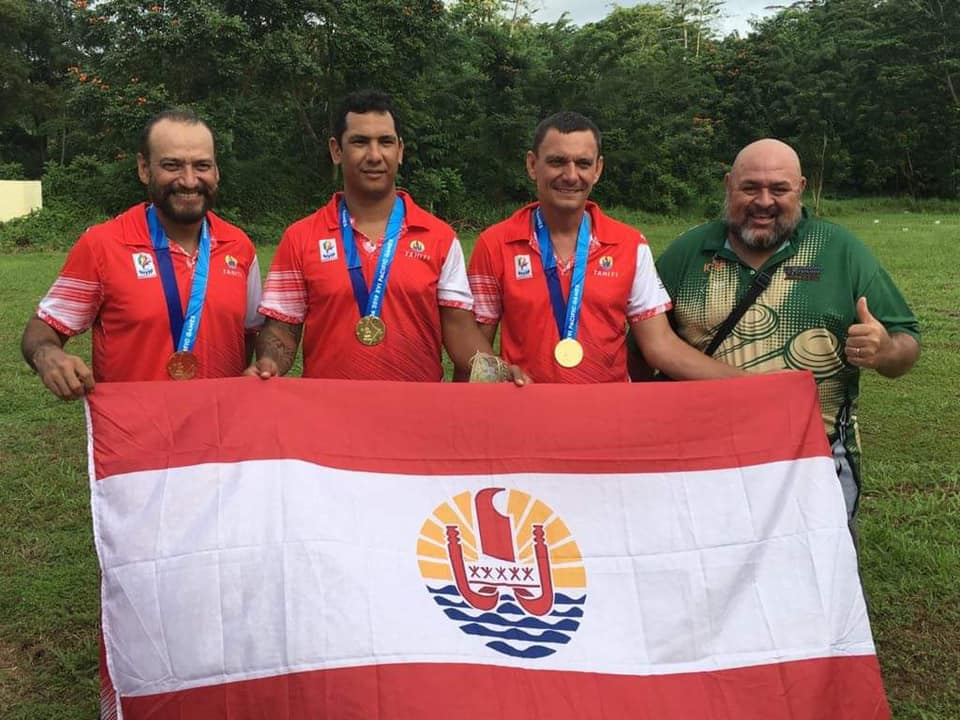 Trois médailles d'or par équipe pour le tir polynésien