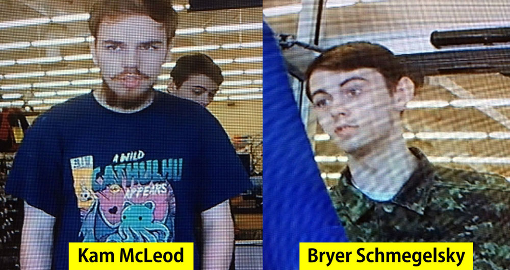 Deux jeunes Canadiens recherchés pour meurtres, dont ceux de deux étrangers
