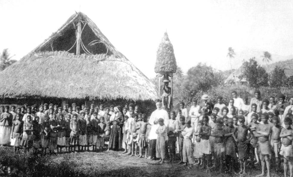 L'église de Pouébo en 1867. Mrg Douarre n'avait pas travaillé pour rien…