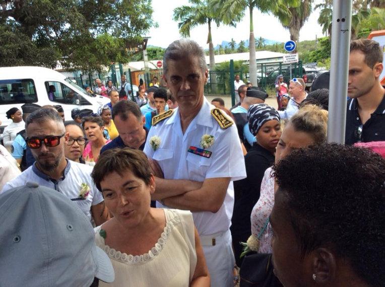 Dominique Saurin, aux côtés de la ministre des Outre-mer.