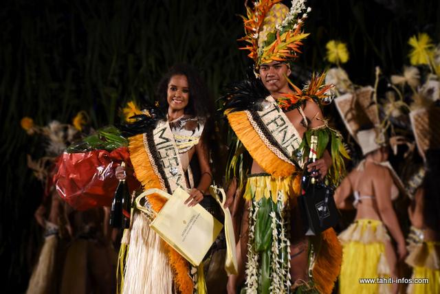 Pikea Tching et Emana Lehartel élus Miss et Tane Mini Heiva 2019