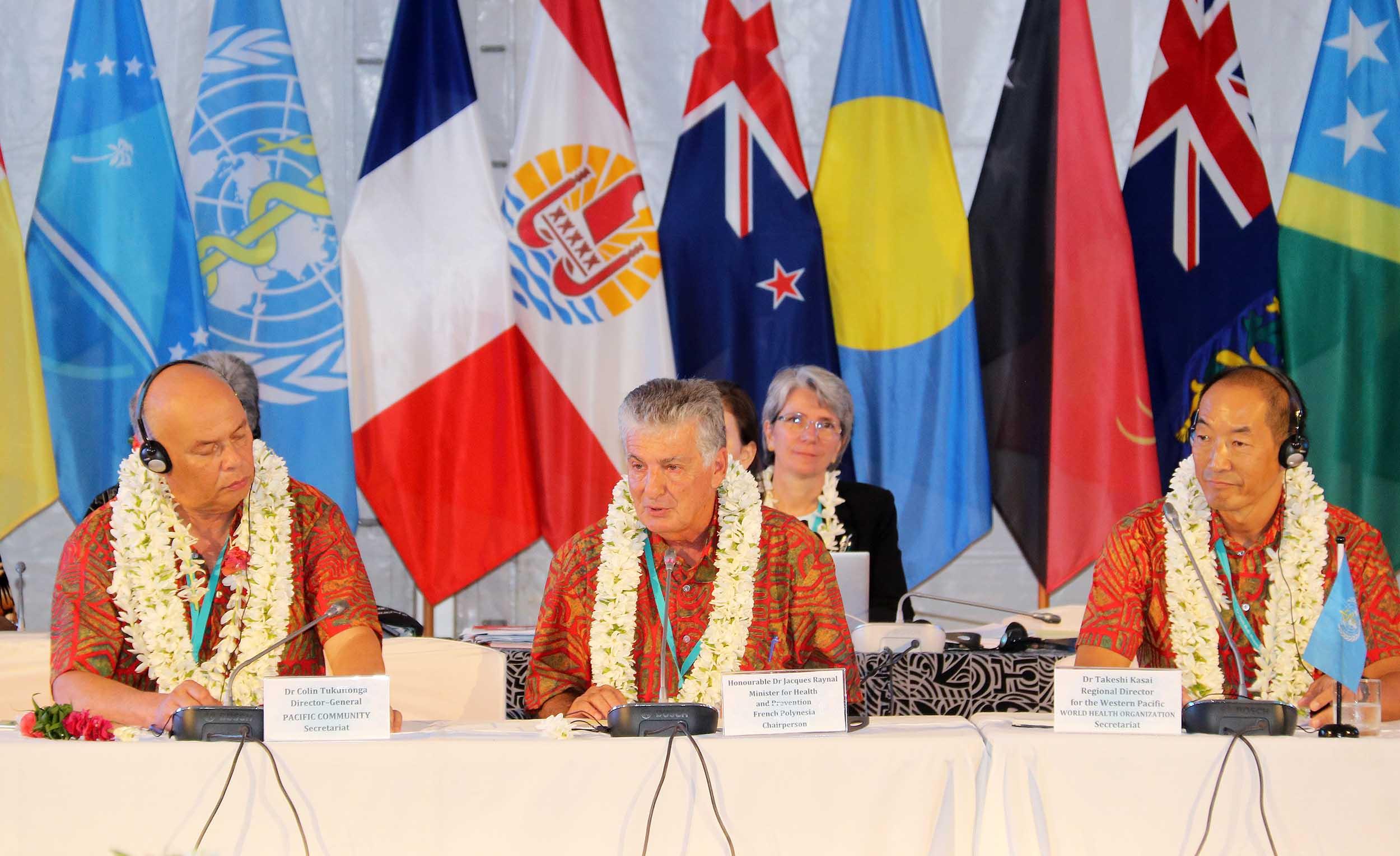 Jacques Raynal, ministre de la Santé de la Polynésie française a été nommé nouveau président du  Comité des ministres de la Santé du Pacifique. Crédit Présidence de la Polynésie française.