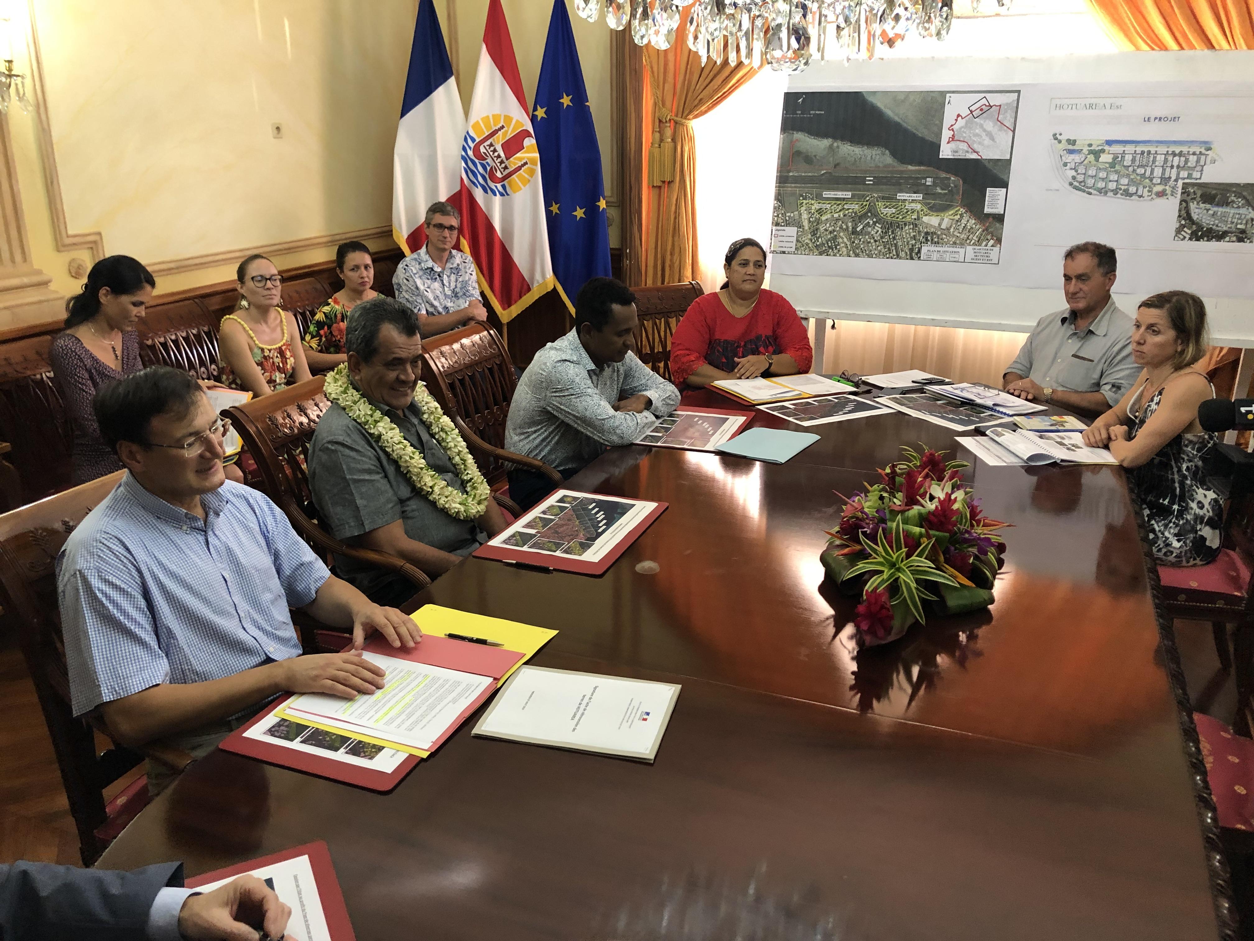 Ces rétrocessions vont permettre le démarrage du plus gros programme de construction de logement social en Polynésie.