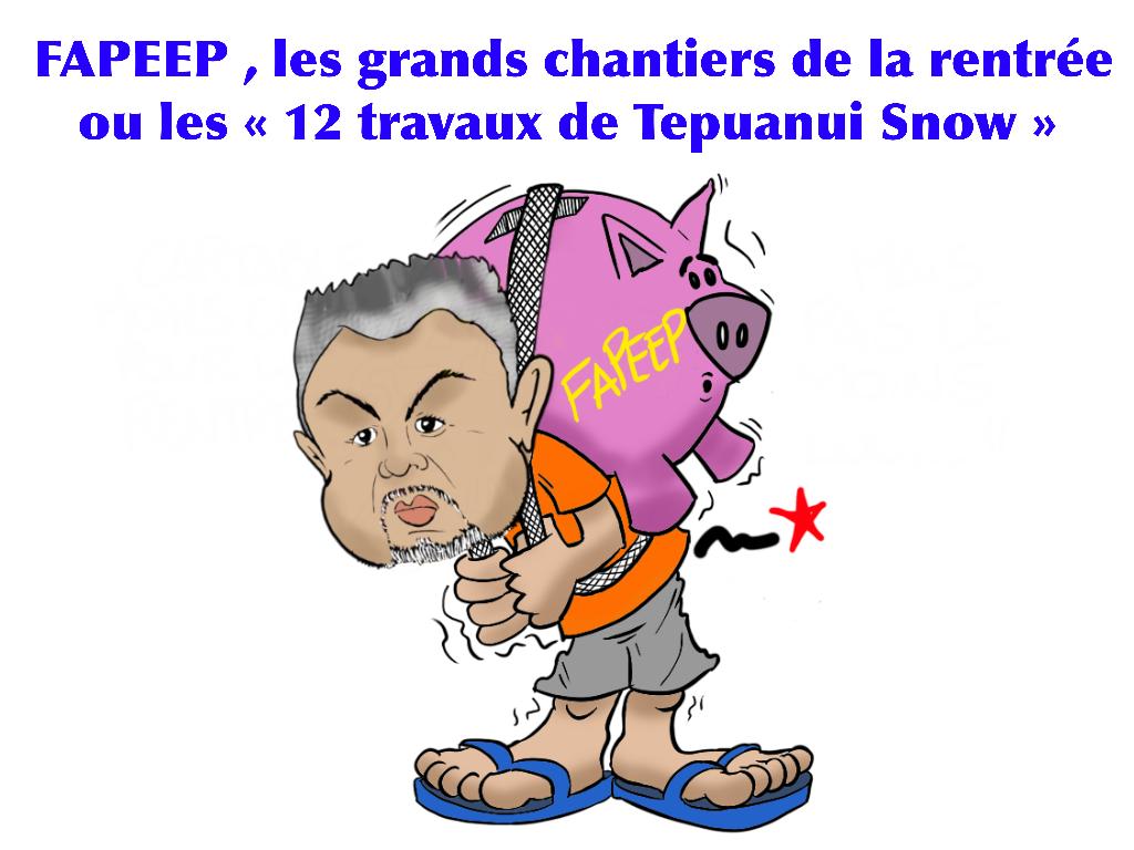"""""""Les 12 travaux de Tepuanui Snow"""", par Munoz"""