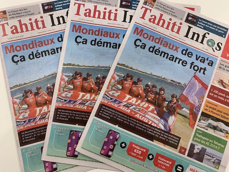 Pas d'édition papier de Tahiti Infos avant lundi