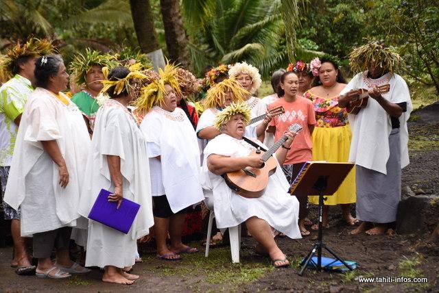 A chaque événement, l'association Haururu prépare de beaux chants.