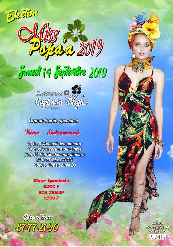Sept candidates se disputeront le titre de Miss Popa'a 2019