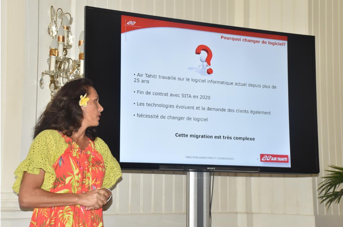 Vairani Tetaria, directrice Marketing et Commerciale d'Air Tahiti.