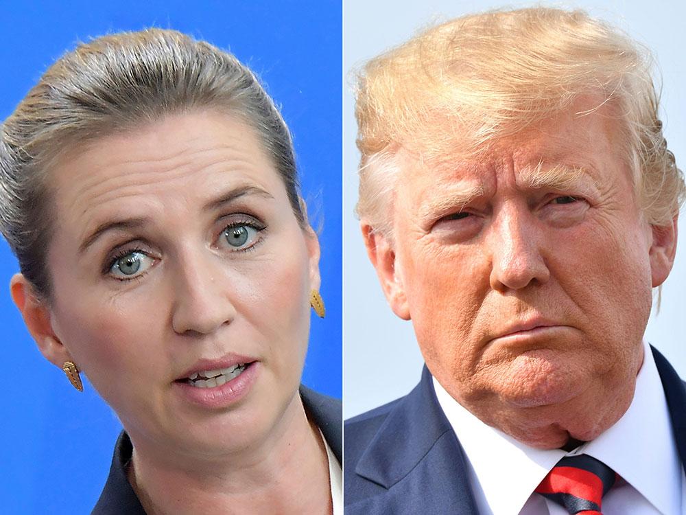 La Première ministre du Danemark, Mette Frederiksen et le président des Etats-Unis, Donald Trump.