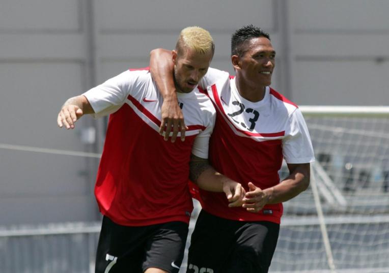 Sylvain Graglia et Enzo Tehau, attaquants de l'as Central la saison dernière