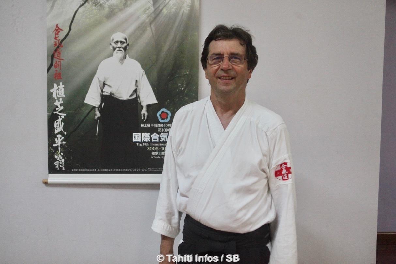 Sylvain Paré pratique le aïkido depuis plus de quarante ans