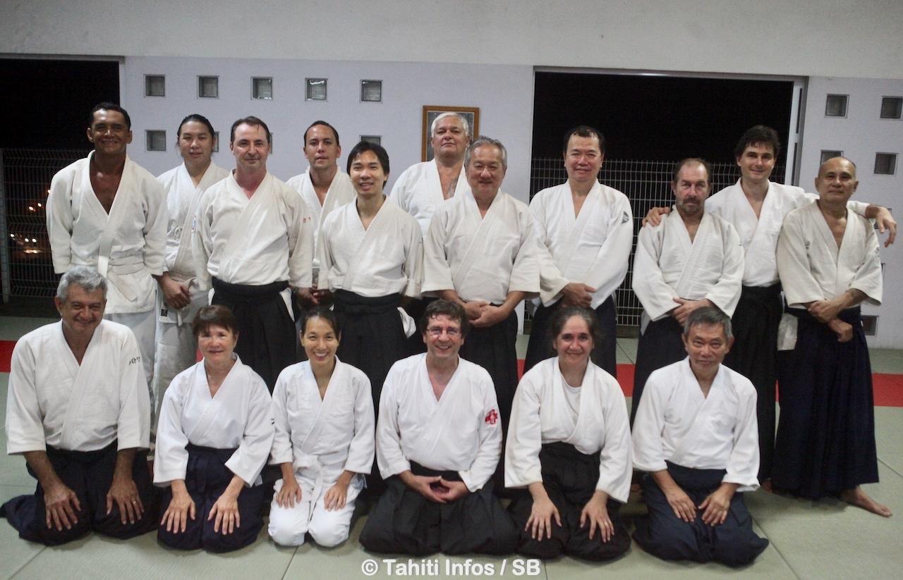 Presqu'une vingtaine de pratiquants ont accueilli le Maître Sylvain Paré