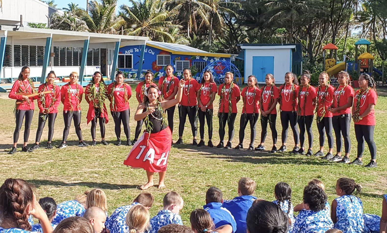 La délégation a été accueiliie aux îles Cook