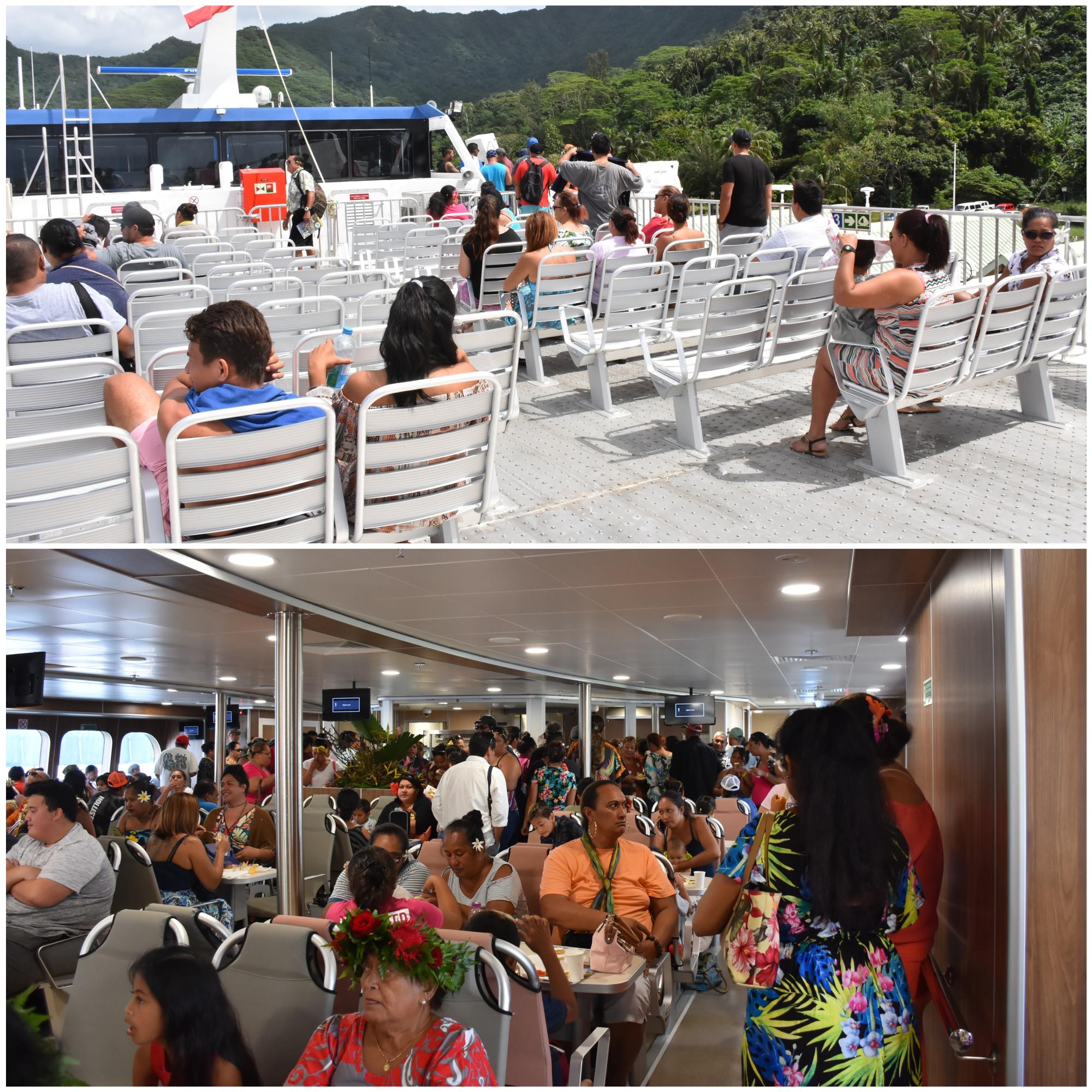 Le navire est capable d'accueillir 550 passagers et propose un meilleur confort à bord.