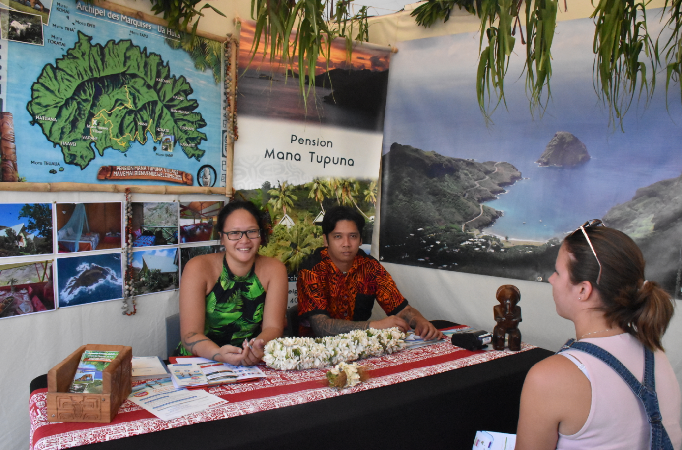La pension Mana Tupuna à Ua Huka aux îles Marquises.