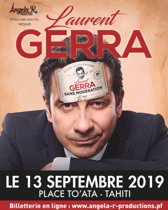 Laurent Gerra le 13 septembre à To'ata