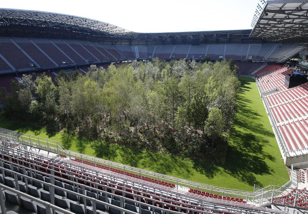 Une forêt plantée sur le terrain d'un stade autrichien