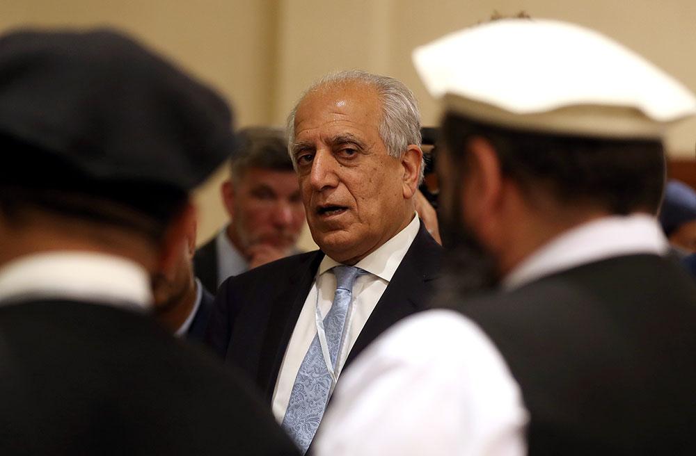 L'émissaire américain Zalmay Khalilzad, artisan des pourparlers avec les talibans.