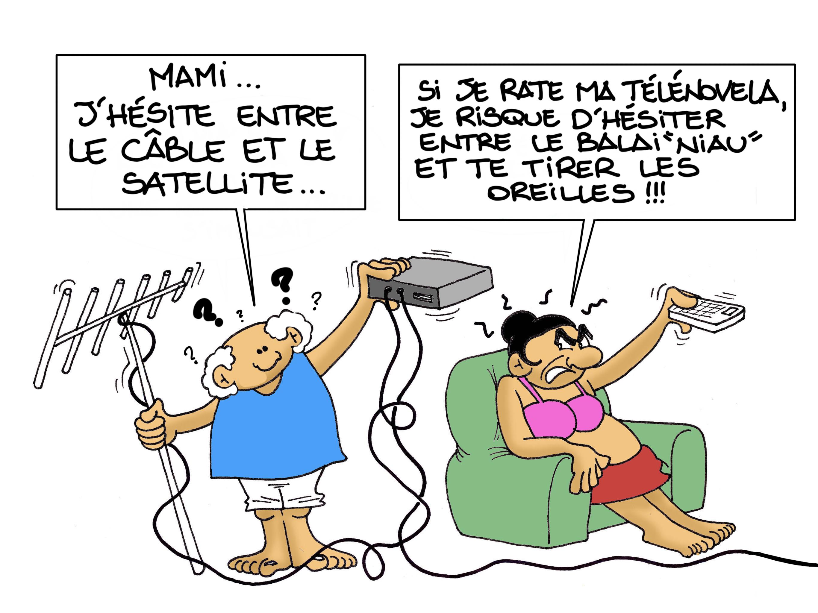 """""""Internet dans les îles"""", par Munoz"""