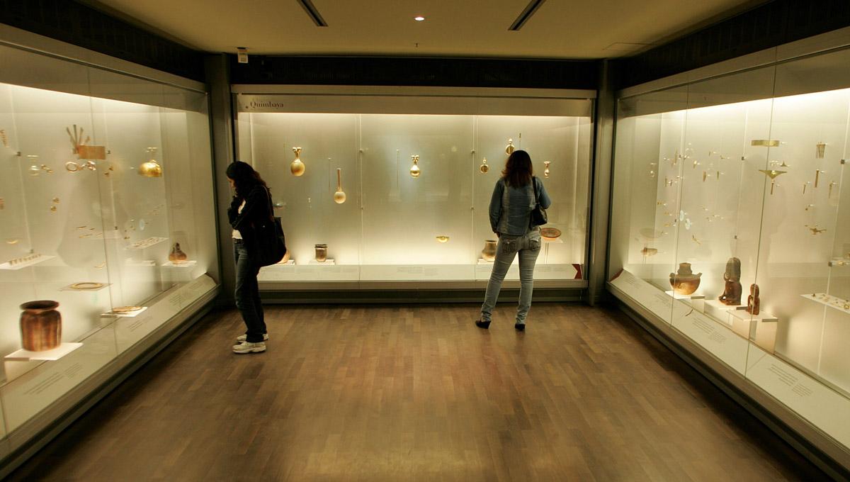 Les nouvelles salles du musée son très dépouillées, mais certaines, où toute photo est interdite, croulent littéralement sous le poids des pièces en or.