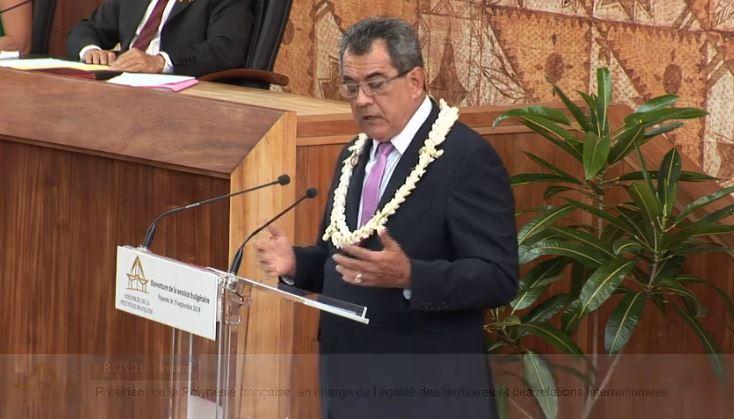 Le discours d'Edouard Fritch pour l'ouverture de la session budgétaire 2019