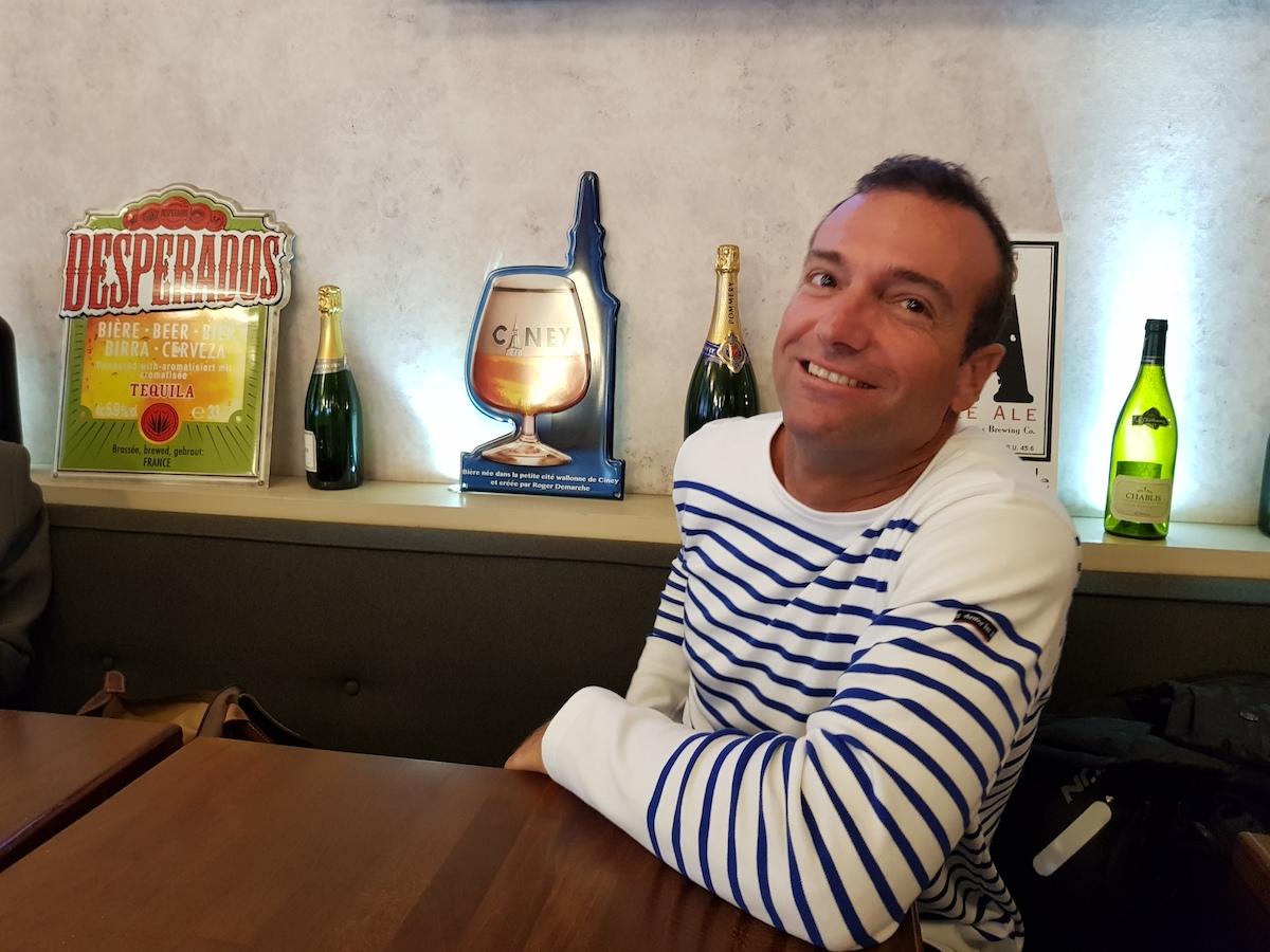 Billy Besson lors de notre rencontre à Paris (Photo GL).
